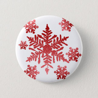 Red Snowflakes Button