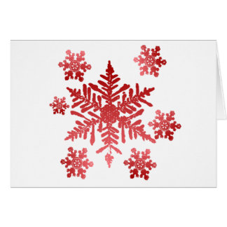 Red Snowflakes Card