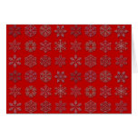 Red Snowflakes Cards