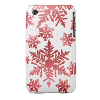 Red Snowflakes Christmas Blackberry Bold Case