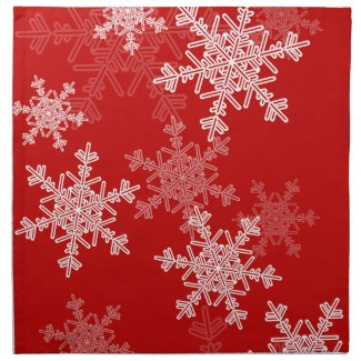 Red Snowflakes Christmas Napkin
