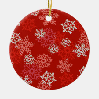 Red Snowflakes Christmas Ornament