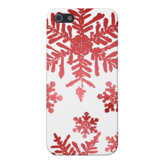 Red Snowflakes Christmas Speck Case
