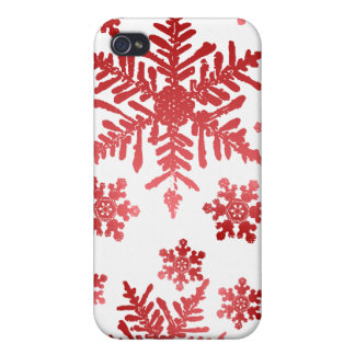 Red Snowflakes Christmas Speck Case iPhone 4 Cases
