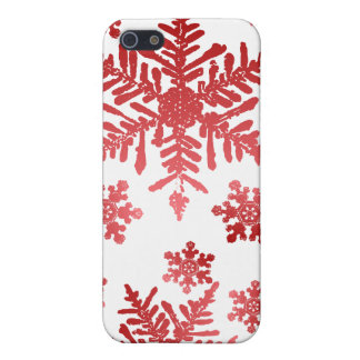 Red Snowflakes Christmas Speck Case Covers For iPhone 5