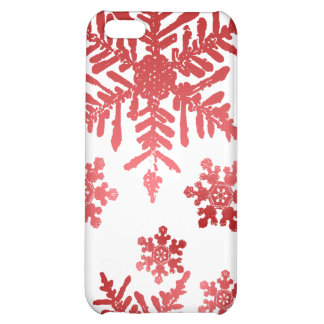 Red Snowflakes Christmas Speck Case iPhone 5C Cases