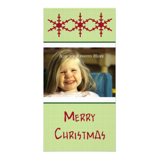 Red SnowFlakes Customizable Photo Card