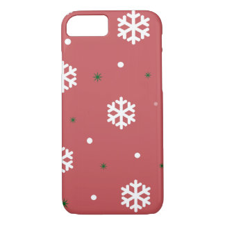 Red Snowflakes iPhone 8/7 Case
