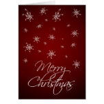 Red Snowflakes - Merry Christmas Greeting Cards