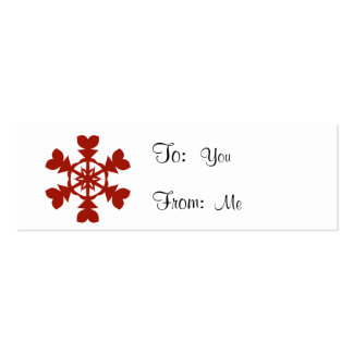 Red  Snowflakes Mini Business Card