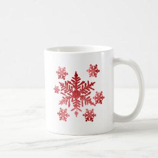 Red Snowflakes Coffee Mugs
