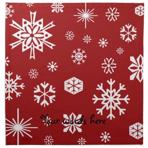 Red snowflakes pattern napkin