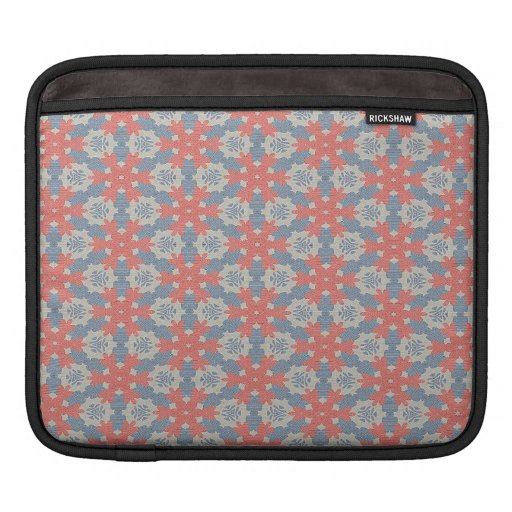 Red snowflakes pattern sleeve for iPads