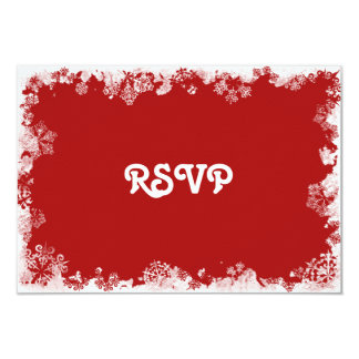 Red Snowflakes RSVP Card