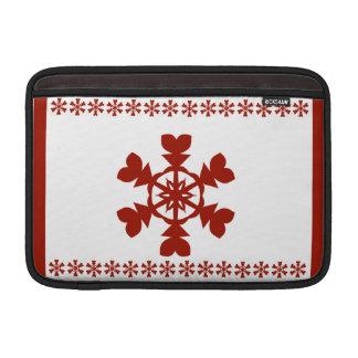 Red  Snowflakes Sleeves For MacBook Air