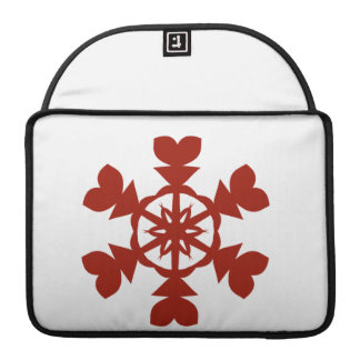 Red  Snowflakes Sleeves For MacBooks