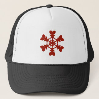 Red  Snowflakes Trucker Hat