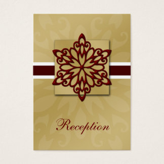 Red snowflakes winter wedding business card