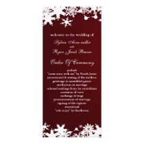 red snowflakes winter wedding program