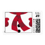 Red Snowman Christmas Postage