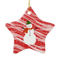 red  snowman star ornament