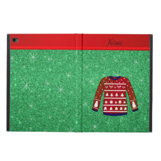 Red snowman ugly christmas sweater green glitter powis iPad air 2 case