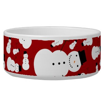 Christmas Themed Red snowmen bowl