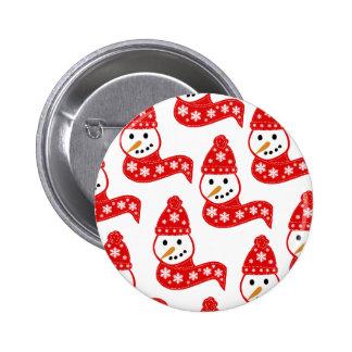 Red Snowmen Buttons
