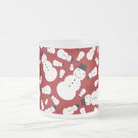Red snowmen coffee mugs