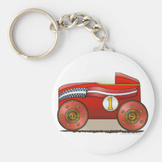 Red Soap Box Car Key Chains