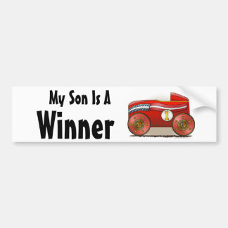"""Red Soap Box Car Winner, My Son ... Bumper Sticke Bumper Sticker"