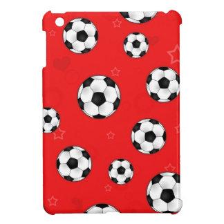 Red Soccer Ball Pattern iPad Mini Covers