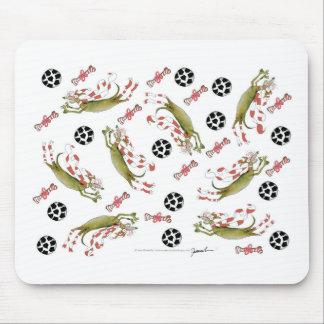 red soccer dog bones balls mouse pad