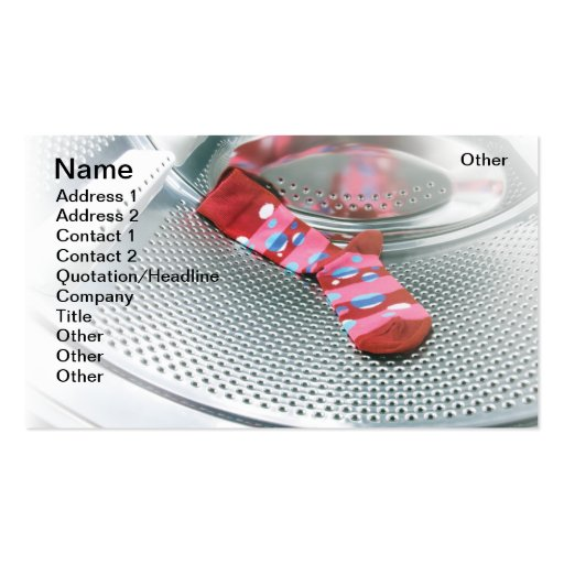Red sock business card templates