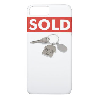 Red Sold Sign Real Estate Agents Home Keys iPhone iPhone 8 Plus/7 Plus Case