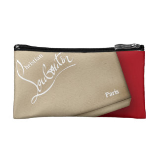 Red Soles heels stilettos kraft box Makeup Bag