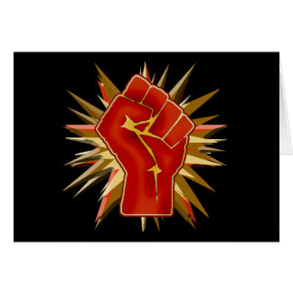 Red Solidarity Fist to Customize on Tshirts Greeting Card