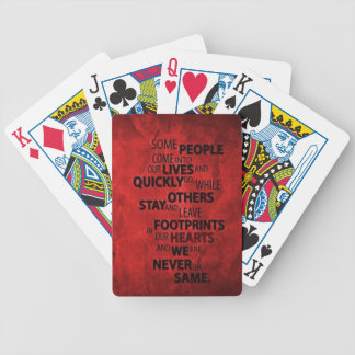 RED SOME PEOPLE LEAVE FOOTPRINTS ON YOUR HEART QUO BICYCLE PLAYING CARDS