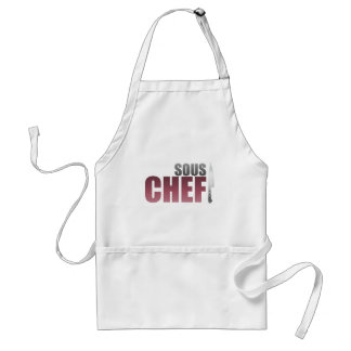 Red Sous Chef Adult Apron