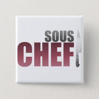 Red Sous Chef Pinback Button