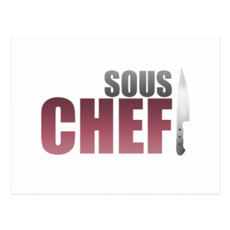 Red Sous Chef Postcard