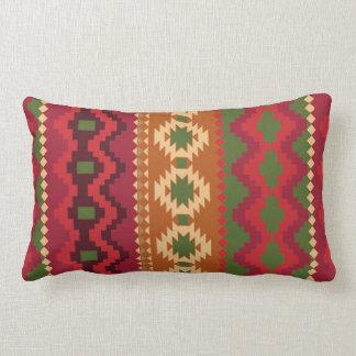 red southwest pattern -  western abstract art lumbar pillow