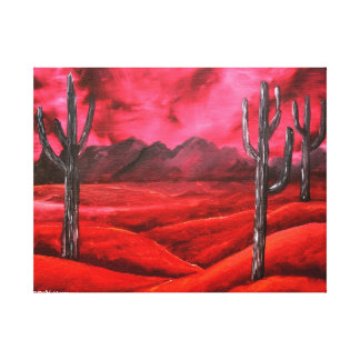 red southwestern abstract landscape painting stretched canvas prints