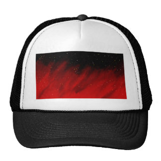Red space mist mesh hats