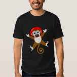Red Space Monkey - Name on Back T-shirts