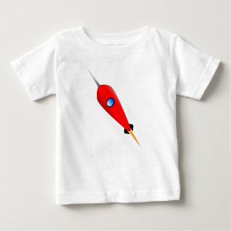 Red Space Rocket Baby T-Shirt
