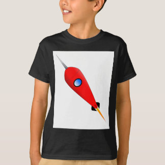 Red Space Rocket T-Shirt