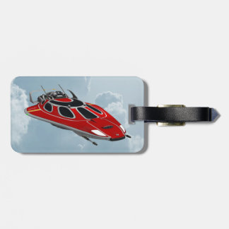 Red Spaceship Tags For Luggage