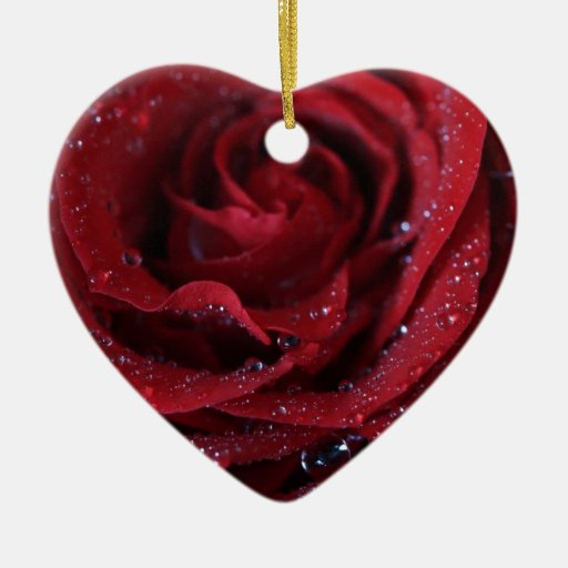 Red Sparkle Ceramic Ornament