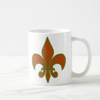 Red Sparkle Fleur de Lis Coffee Mug